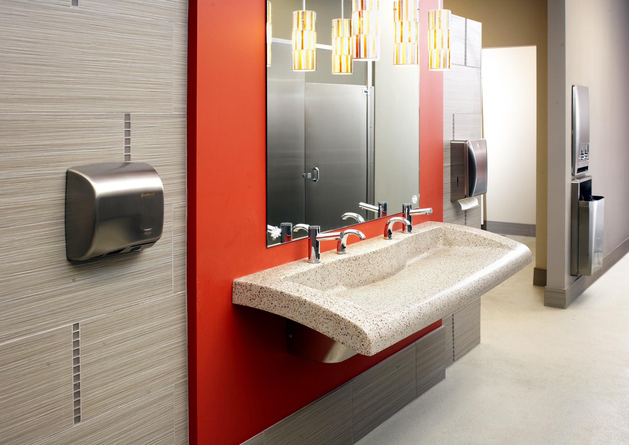 Bradley - Lavatory Verge System VGD-Seriesred-and-tan-verge-restroom