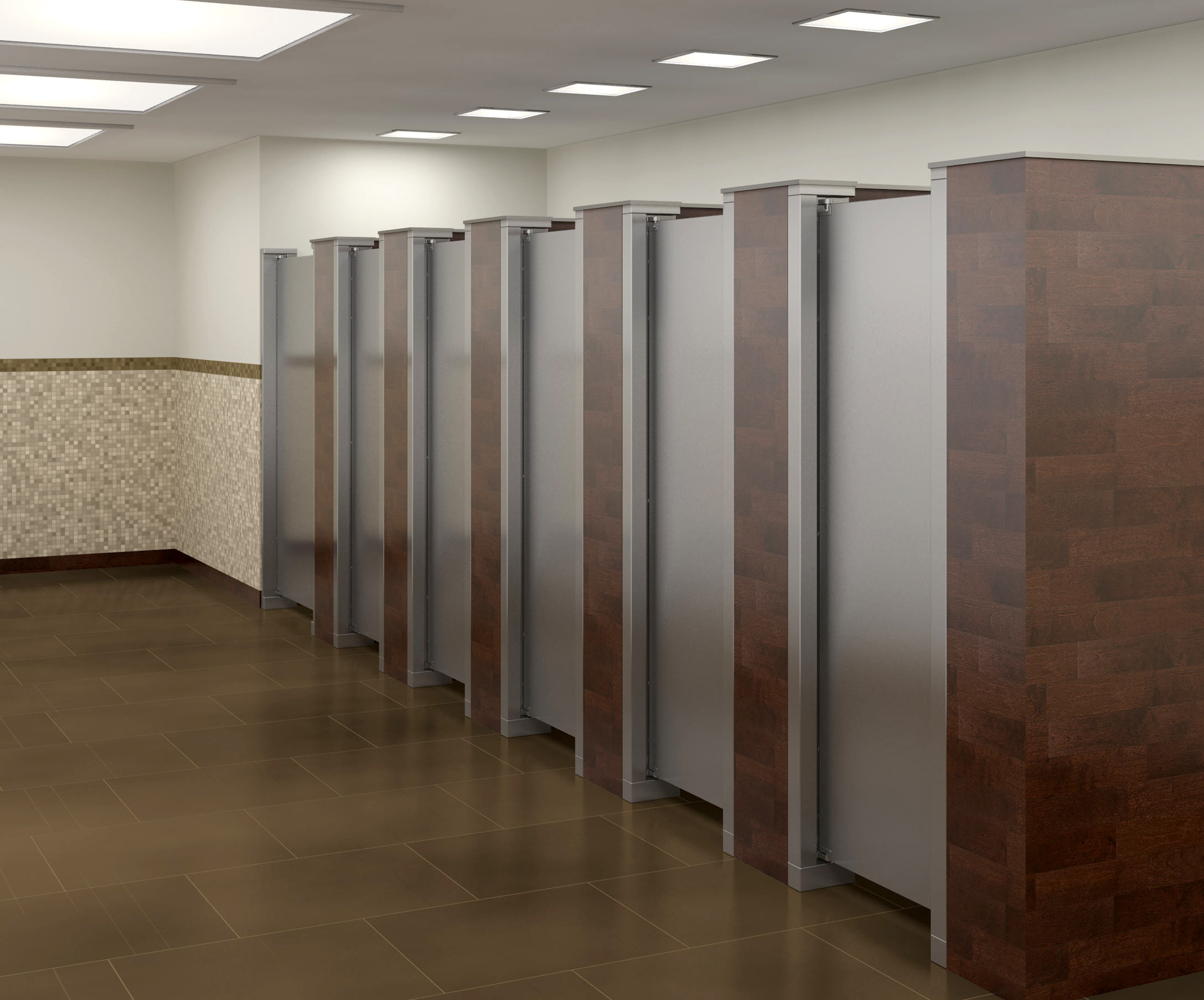 Bradley - ToiletPartitions stainless-steel-partitions-with-walls thumb